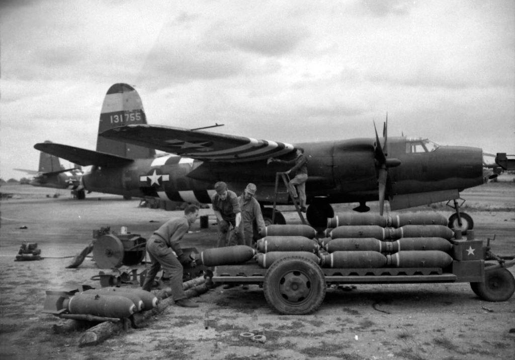 """B-26B-20-MA Marauder s/n 41-31755 """"Ye Olde Crocke"""" 554BS 386BG 9AF"""
