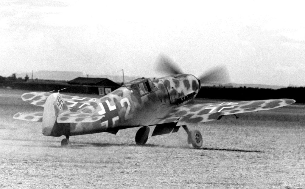 Messerschmitt Bf.109F в тропическом камуфляже