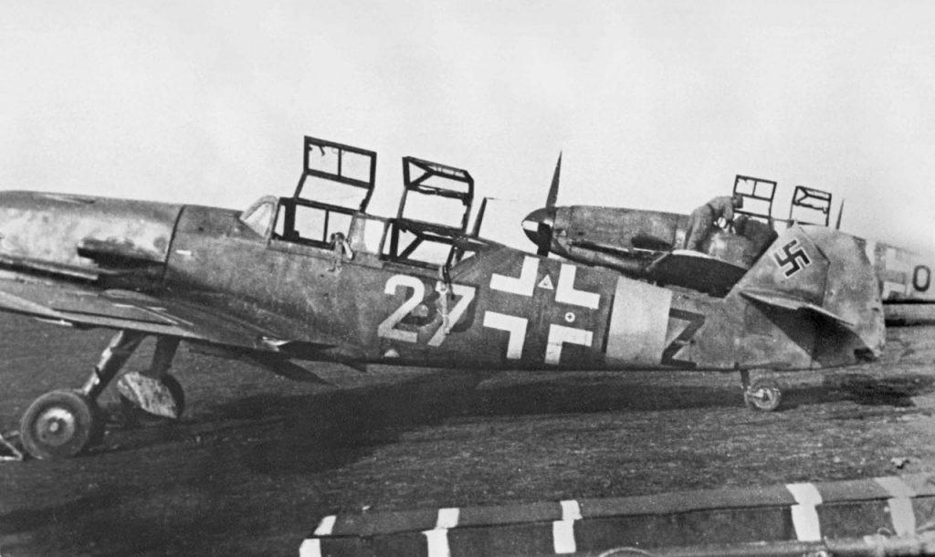 Messerschmitt Bf.109 G-12 W.Nr 15209 3./JG101 Pau Франция весна 1944 года