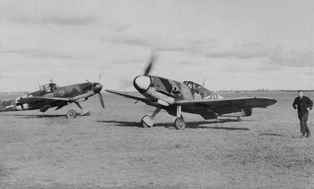 Messerschmitt Bf.109 G-2 из II/JG54 и Stab III/JG54