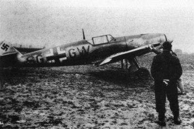 Messerschmitt Bf.109 F-1 W.Nr 5628 SG+GW Werner Mölders JG51 1940 год