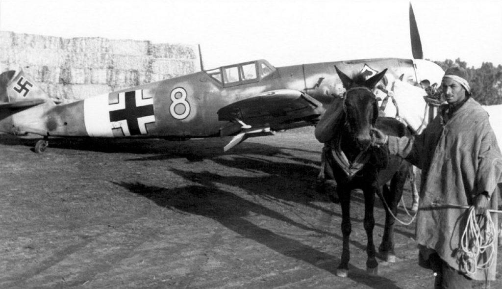 Messerschmitt Bf.109G-1 3./JG53 переданный из 11./JG2 Тунис начало 1943 года