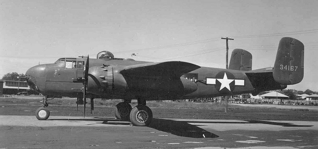 North American B-25H-1-NA s/n 43-4167 Eagle Farm Австралия 1943