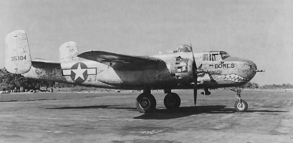 "North American B-25H-10-NA s/n 43-5104 ""Bones"" последний 1000-ный B-25H Mitchell в 12th BG"
