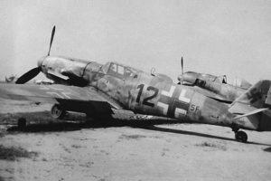 Messerschmitt Bf.109 G-10 W.Nr 770269 2./NAGr14 Fürth Германия май 1945 года