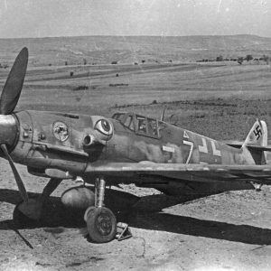 Messerschmitt Bf.109G-6 R3 W.Nr 163269 Elias Kühlein 4./JG51 Болгария июнь 1944 года
