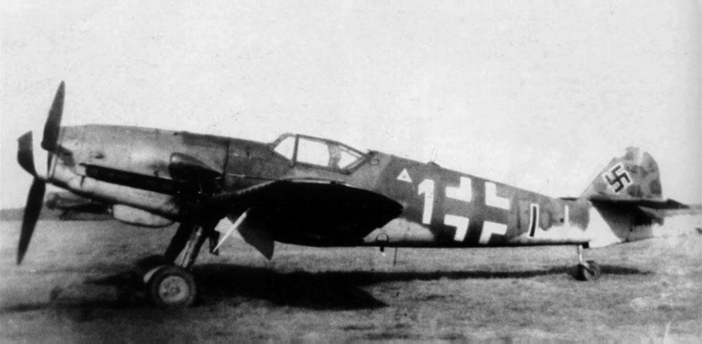Messerschmitt Bf.109 K-4 W.Nr 334176 Martin Deskau II/JG3 Pasewalk март 1945 года