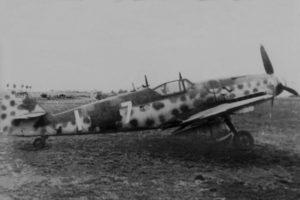 """Messerschmitt Bf.109G-14 W.Nr 462919 Oskar """"Ossi"""" Romm JG3 Esperstedt осень 1944 года"""