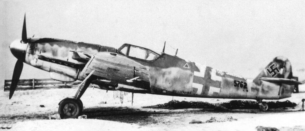 "Messerschmitt Bf109 G-14/AS W.Nr 785762 сборки секретного объекта ""Gauting"", Obertraubling, зима 1944 года"