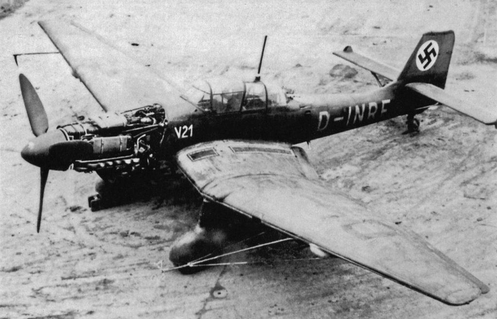 Junkers Ju.87 V21 (W.Nr 0536, D-INRF) первый прототип Ju.87D