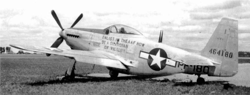 North American P-51H Mustang s/n 44-64180 PF-180 первый P-51H-5-NA, Bolling Field, Мэриленд