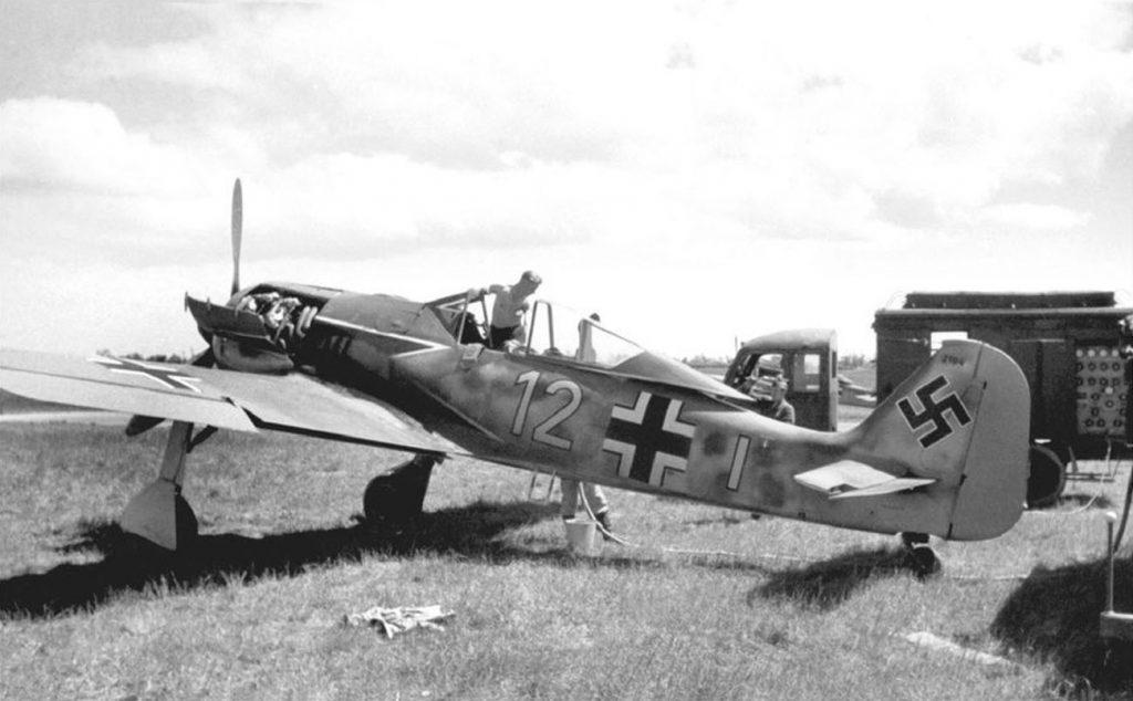 Focke-Wulf Fw.190 A-2 7./JG2 Théville Франция июнь 1942 г
