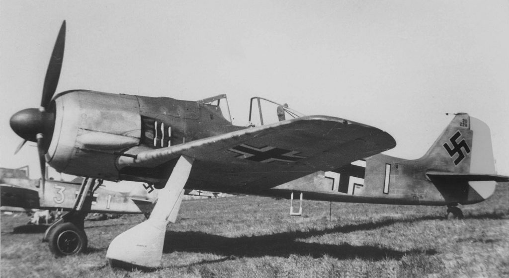 Focke-Wulf Fw.190 A-2 W.Nr 120228 9./JG2 Théville Франция 1942 г