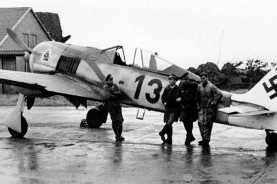 Focke-Wulf Fw.190 A-5/U12 W.Nr 410266 Lt. Erich Hondt 2./JG11 Husum осень 1943 года