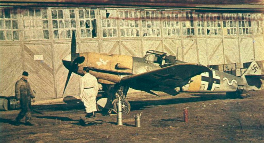 Messerschmitt Bf.109 F-2 Max-Hellmuth Ostermann 7./JG54 сентябрь 1941 года