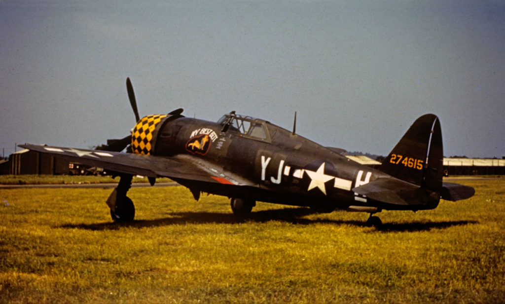 "Republic P-47D-6-RE Thunderbolt s/n 42-74615 ""My Best Bett"", 351FS 353FG, Mount Farm"