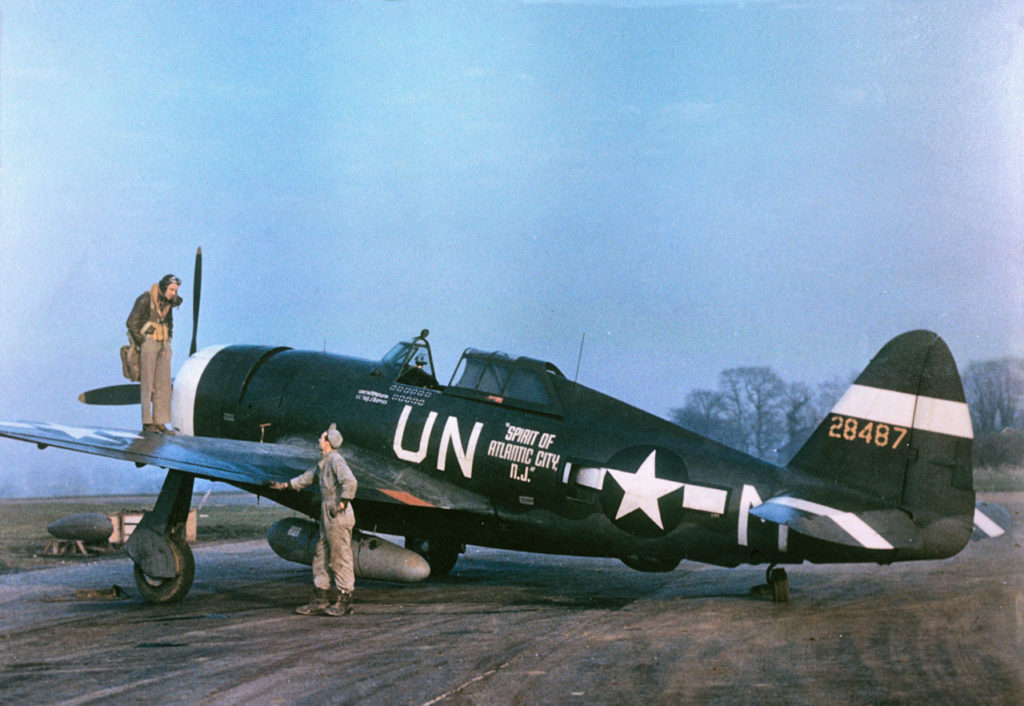 "Republic P-47D-5-RE Thunderbolt s/n 42-8487 ""Spirit of Atlantic City, NJ"" Capt. Walker ""Bud"" Mahurin 63FS 56FG"