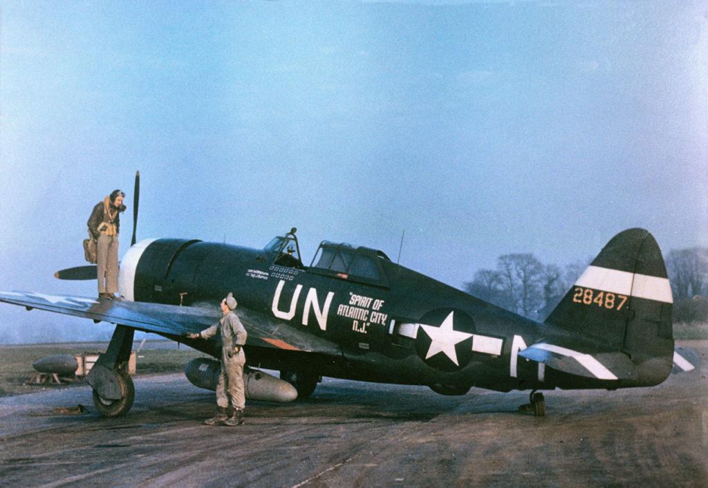 "Republic P-47D-5-RE Thunderbolt s/n 42-8487 ""Spirit of Atlantic City, NJ"" Capt. Walker ""Bud"" Mahurin 63FS 56FG"