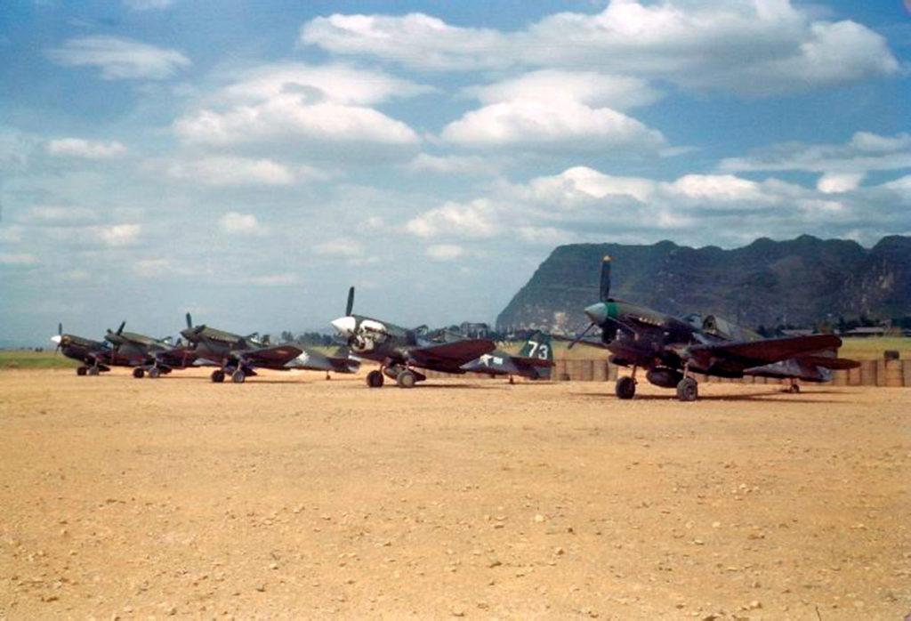 Истребители Curtiss P-40N из 85FS 80FG 10AF
