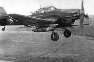 Junkers Ju.87 G-1 без обтекателей шасси