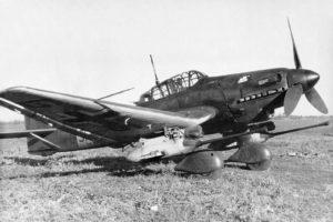Junkers Ju.87 G-1 один из первых Ju.87G с пушками Flak 18
