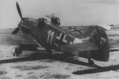 Messerschmitt Bf.109 F-4 trop Lt. Harder 7./JG53 Martuba Ливия 1942 год