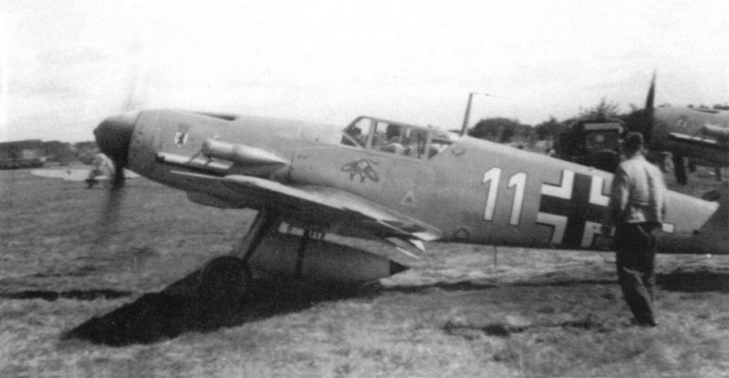 Messerschmitt Bf.109 F-4/R3 trop 4./JG27 Döberitz сентябрь 1941 года