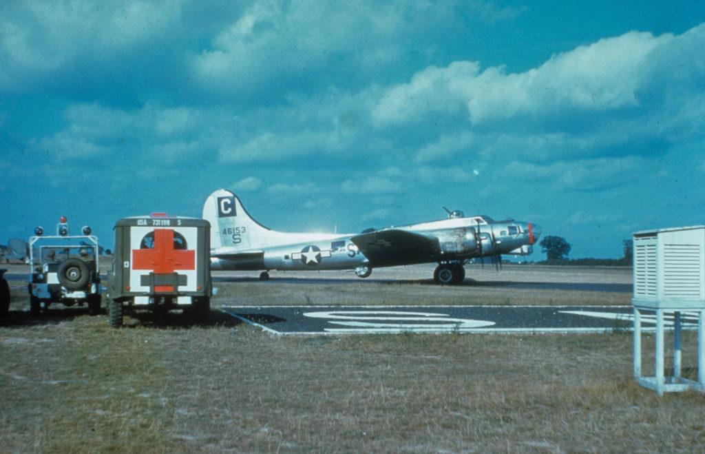 Boeing B-17G-45 Flying Fortress s/n 44-6153 96BG 8AF аэродром Snetterton Heath