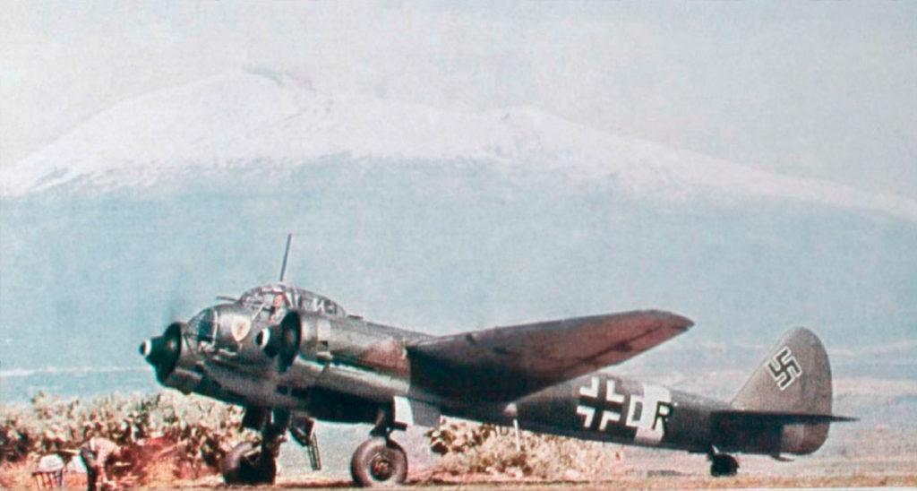 Junkers Ju.88A 4D+DR 7./KG30 Comiso Сицилия, конец 1942 года