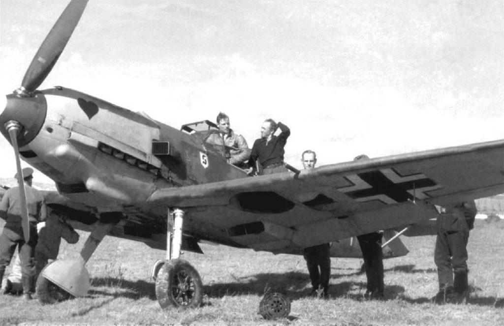 Messerschmitt Bf.109 E-7 Oblt Joachim Müncheberg 7./JG26 Gela Сицилия 1941 год