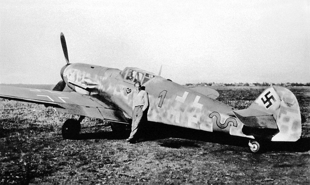 Messerschmitt Bf.109 G-6 W.Nr 20449 Erich Hartmann 9./JG52 октябрь 1943 года