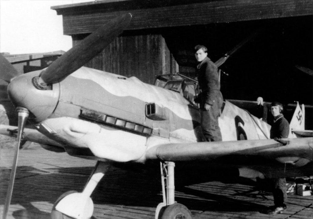 Messerschmitt Bf.109T W.Nr 7767 Oblt. Herbert Christmann 11./JG11 весна 1944 года