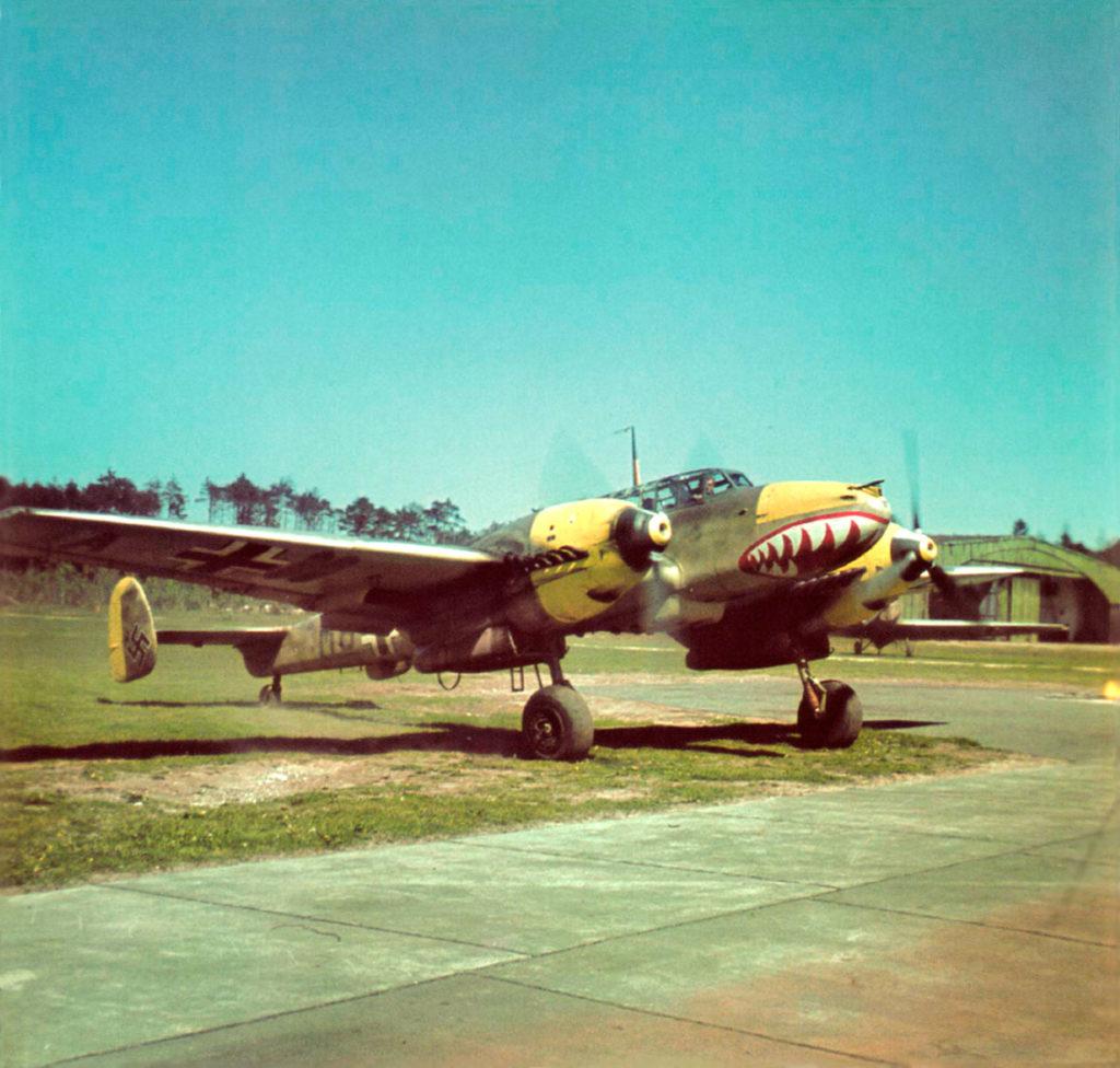 Messerschmitt Bf.110E II/ZG76 Magdeburg-Ost 1941 год