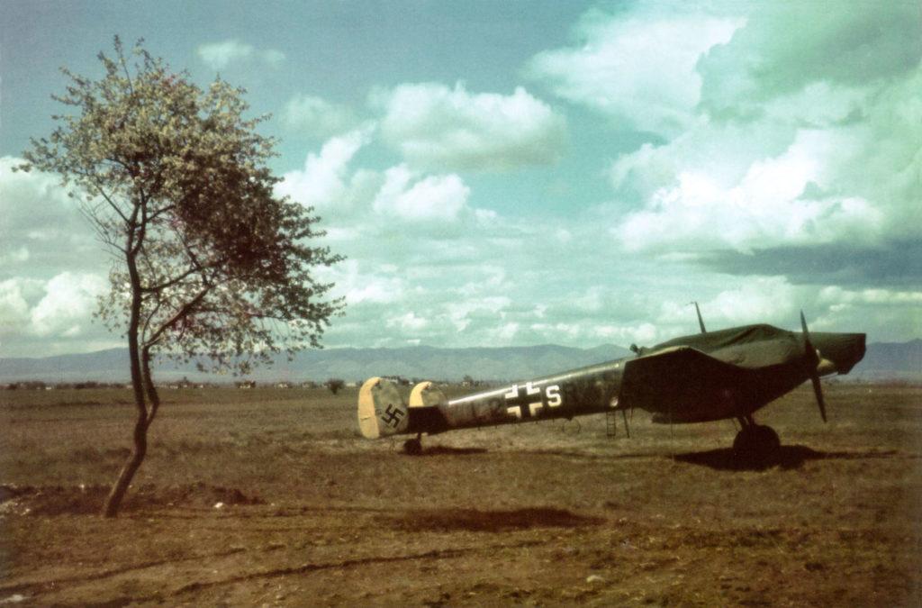 Messerschmitt Bf.110 E-3 7.(F)/LG2 Sofia-Vrazdebna, Болгария апрель 1941 года