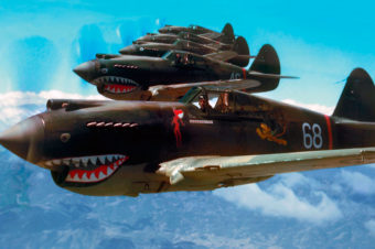 Curtiss P-40 Flying Tigers in Color