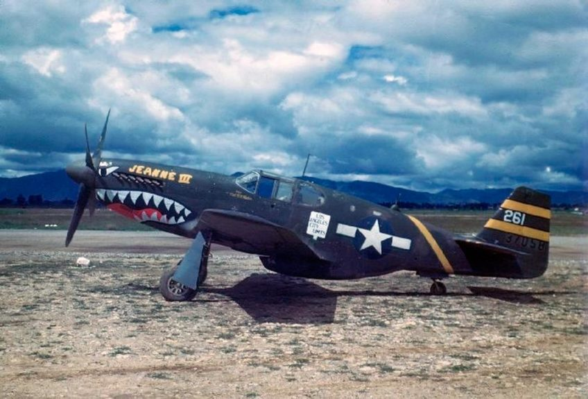 North American P-51B Mustang in Color