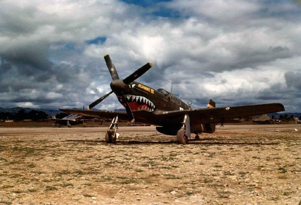 "North American P-51B-5-NA Mustang ""Jeanne III"" s/n 43-7058, 26FS 51FG 14AF, Китай 1944 год"