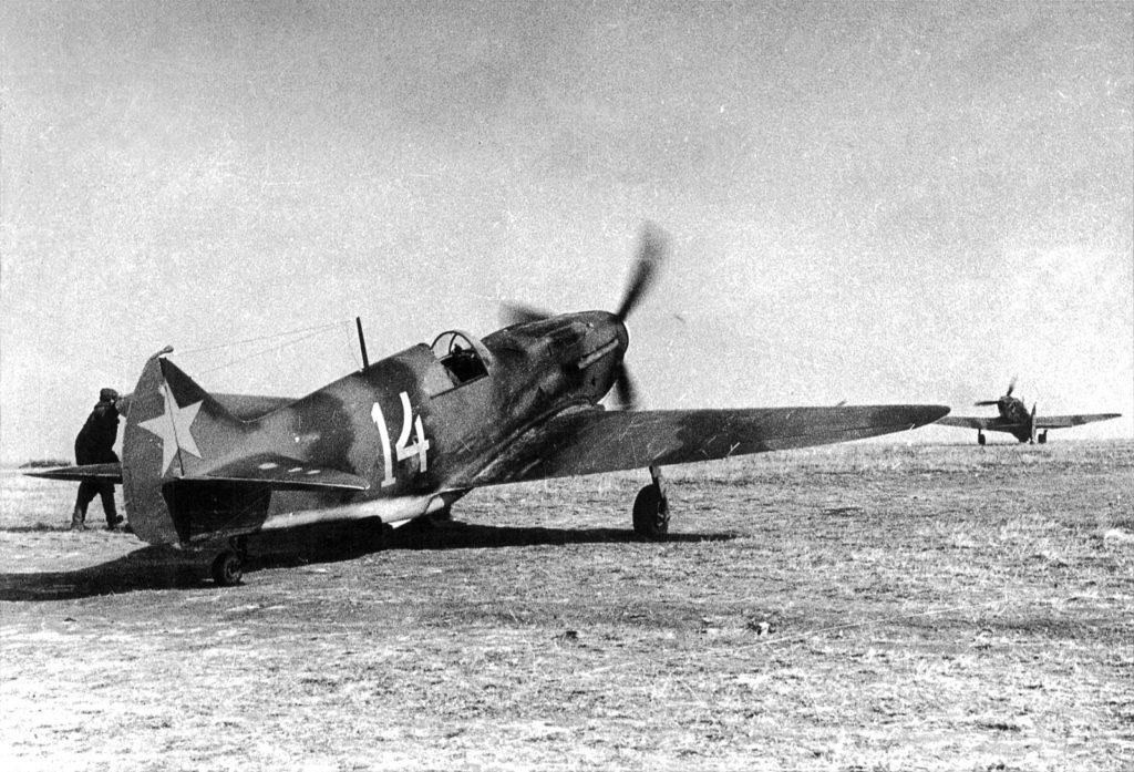 ЛаГГ-3 из 44ИАП на Ленинградском фронте, осень 1941 года