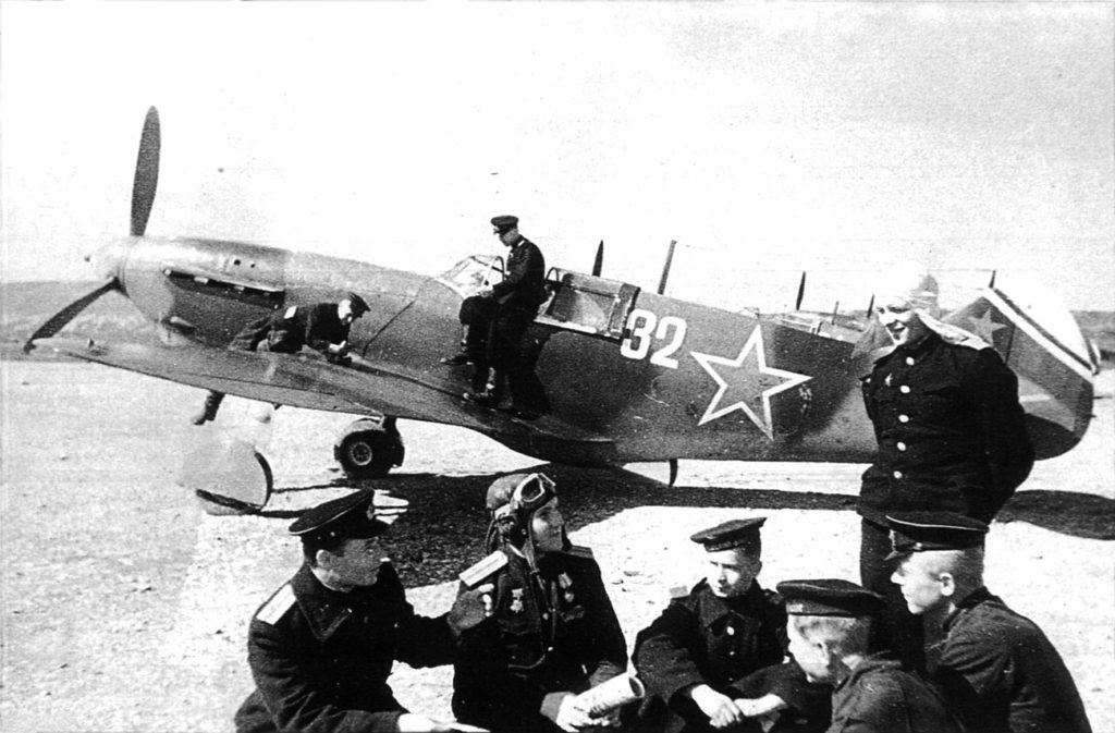 ЛаГГ-3 9ИАП ВВС Черноморского флота Новороссийск весна 1944 года